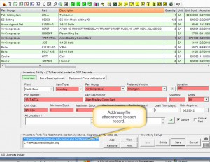 Machine Maintenance Software  - How to Add File Attachments