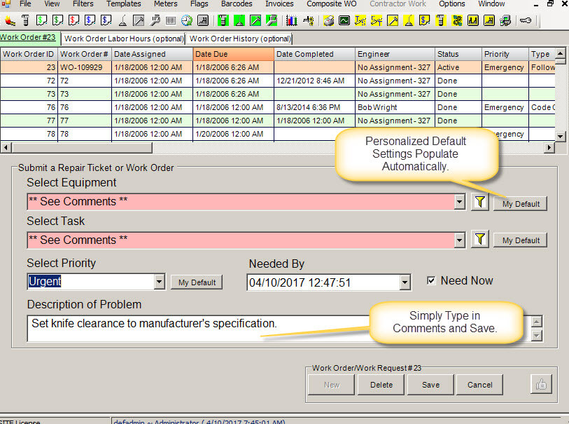 simple work order software work orders cmms software for
