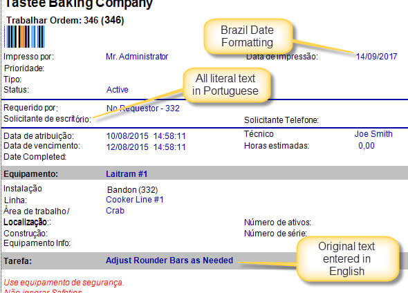 portuguese work order software
