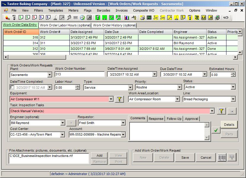 maintenance work order system