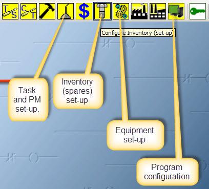 cmms navigation for set-up