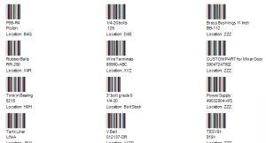 barcodes printed on sheet